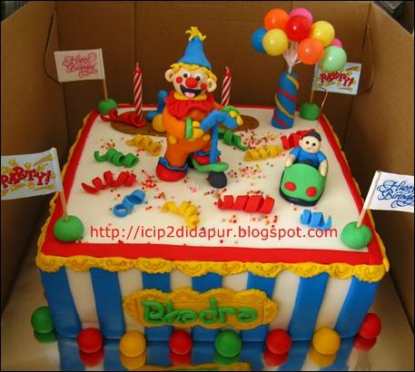 Yonadas Clown Birthday Cake for Bhadra