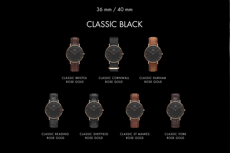 00dc8550907f NHBL - Daniel Wellington Introduces The Classic Black Collection