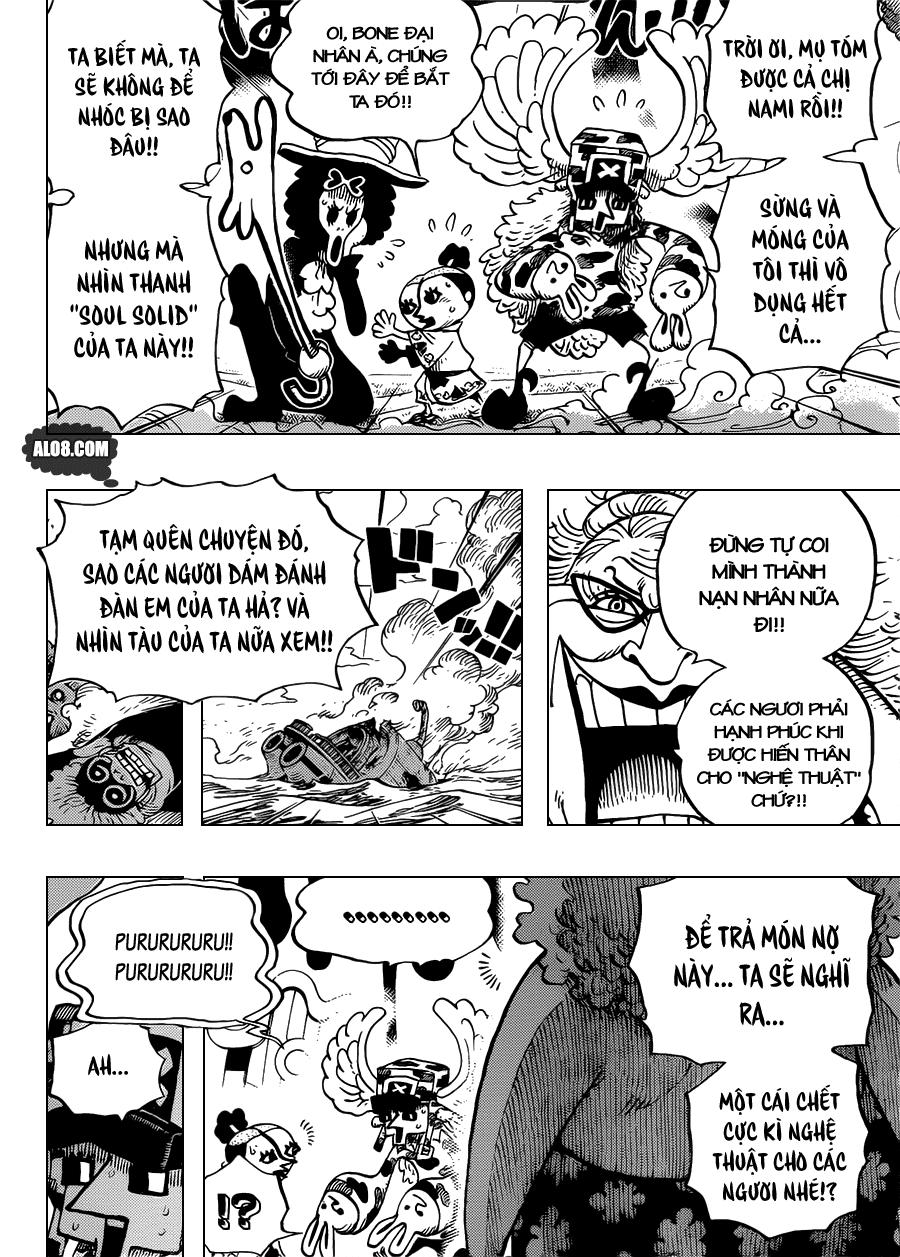 One Piece Chapter 718: Những chiến binh hoàng gia Riku ở cánh đồng hoa 012
