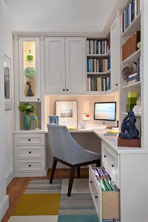 White Contemporary Home Office