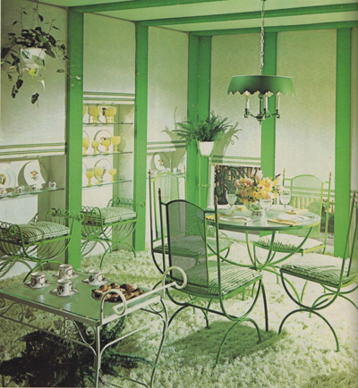 Mod and Mint: 5 Amazing Monochromatic Vintage Interiors