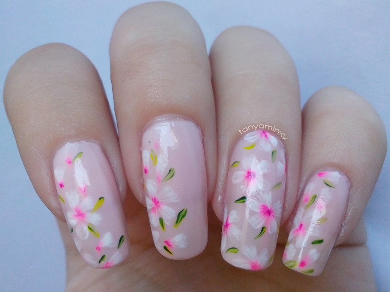 Floral Flowers Acrylic Nails Nail Art Nails Designs Simple Acrylic
