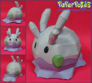 Pokemon Goomy Papercraft - Dragon Model