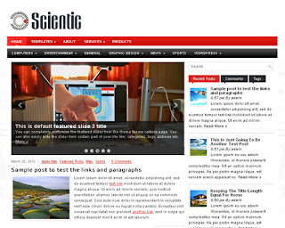 WordPress-Template Scientic