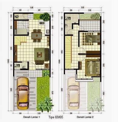 contoh rancangan rumah minimalis