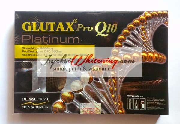 Glutax Pro Q10 Platinum, glutax pro q10 platinum review, harga glutax pro q10, suntik Putih glutax pro q10