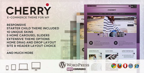 Cherry responsive e-commerce theme for WP Version 1.2.1 free