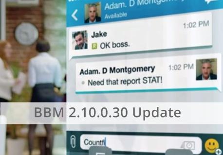 Update BBM 2.10.0.30