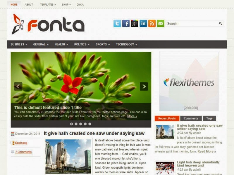 Fonta - Free Wordpress Theme