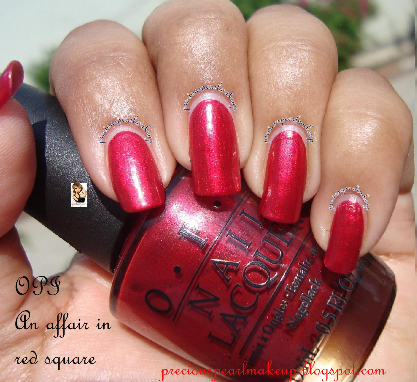 preciouspearlmakeup: OPI Nail Lacquer Affair in Red Square