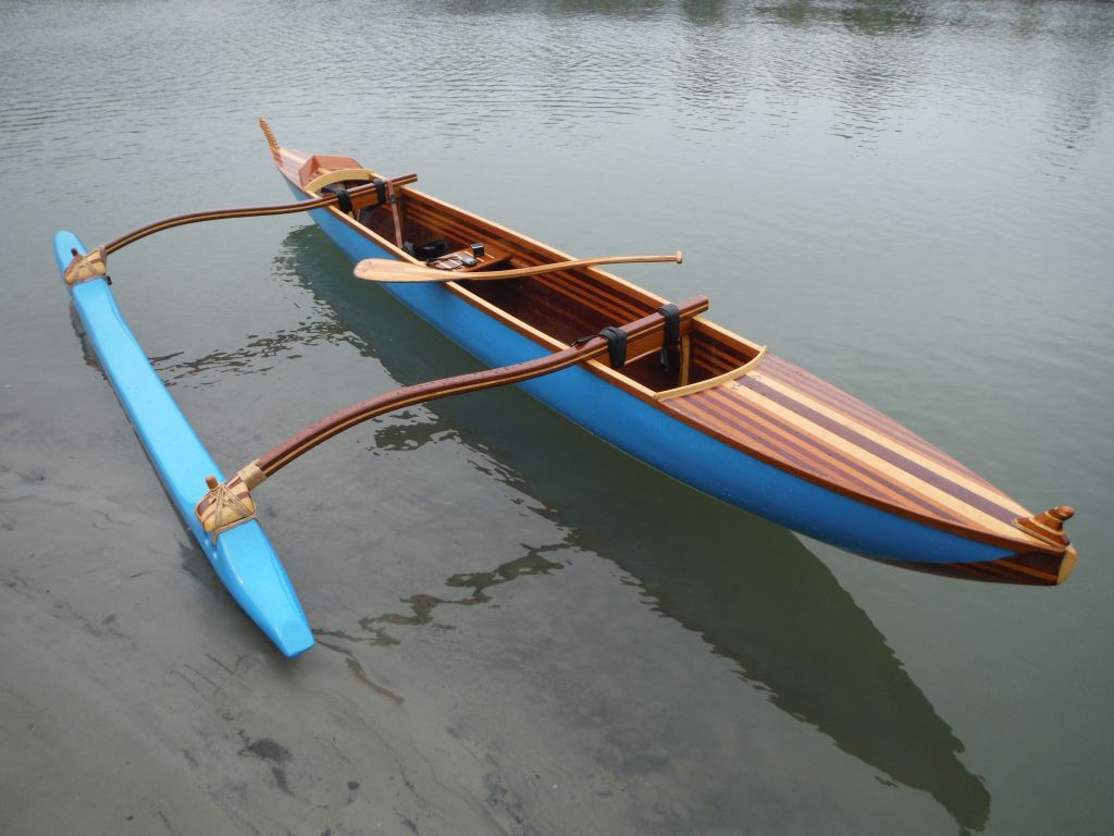 Outrigger sailing canoes for Plans for canoe