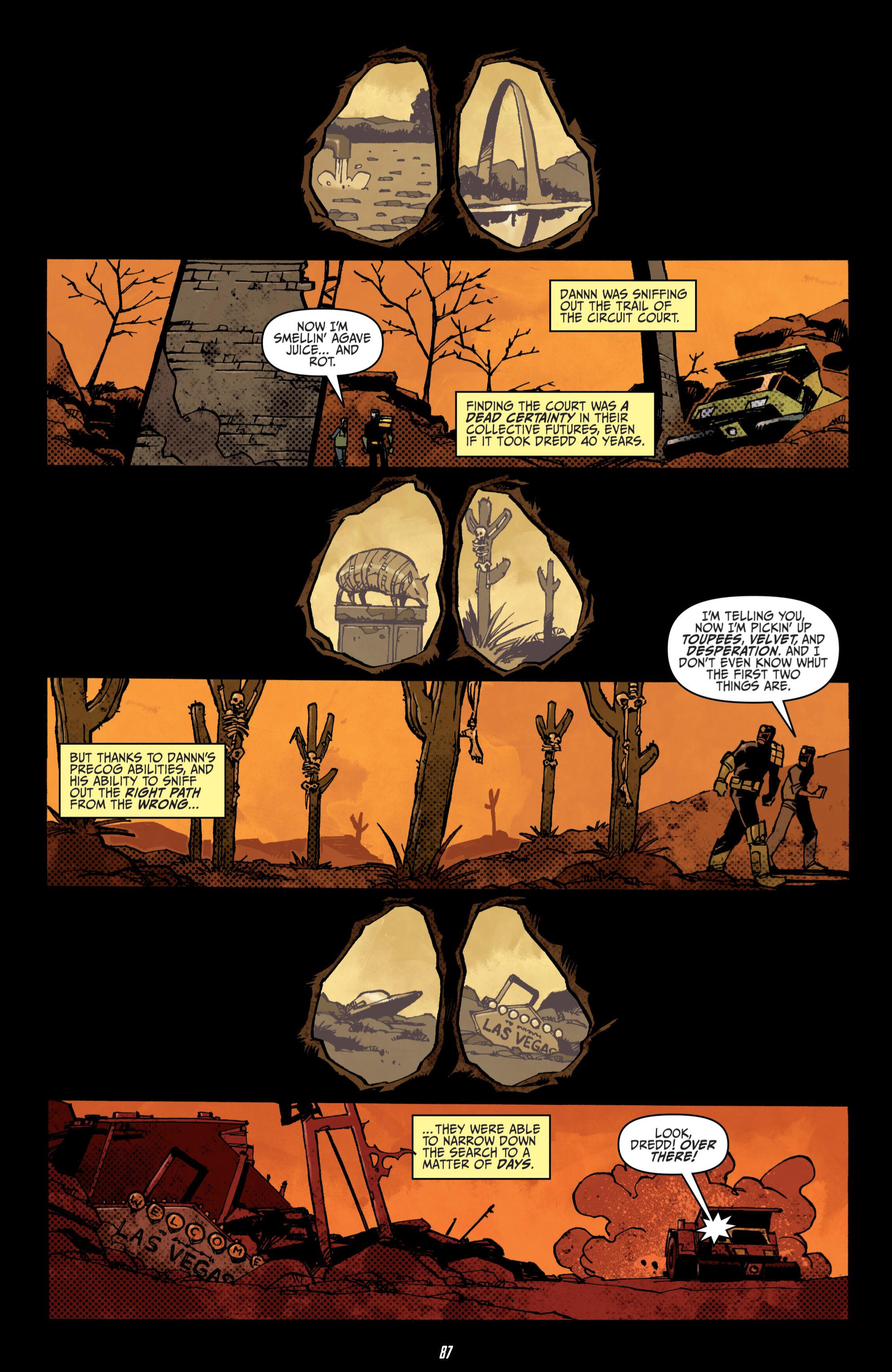 Read online Judge Dredd (2012) comic -  Issue # _TPB 3 - 87