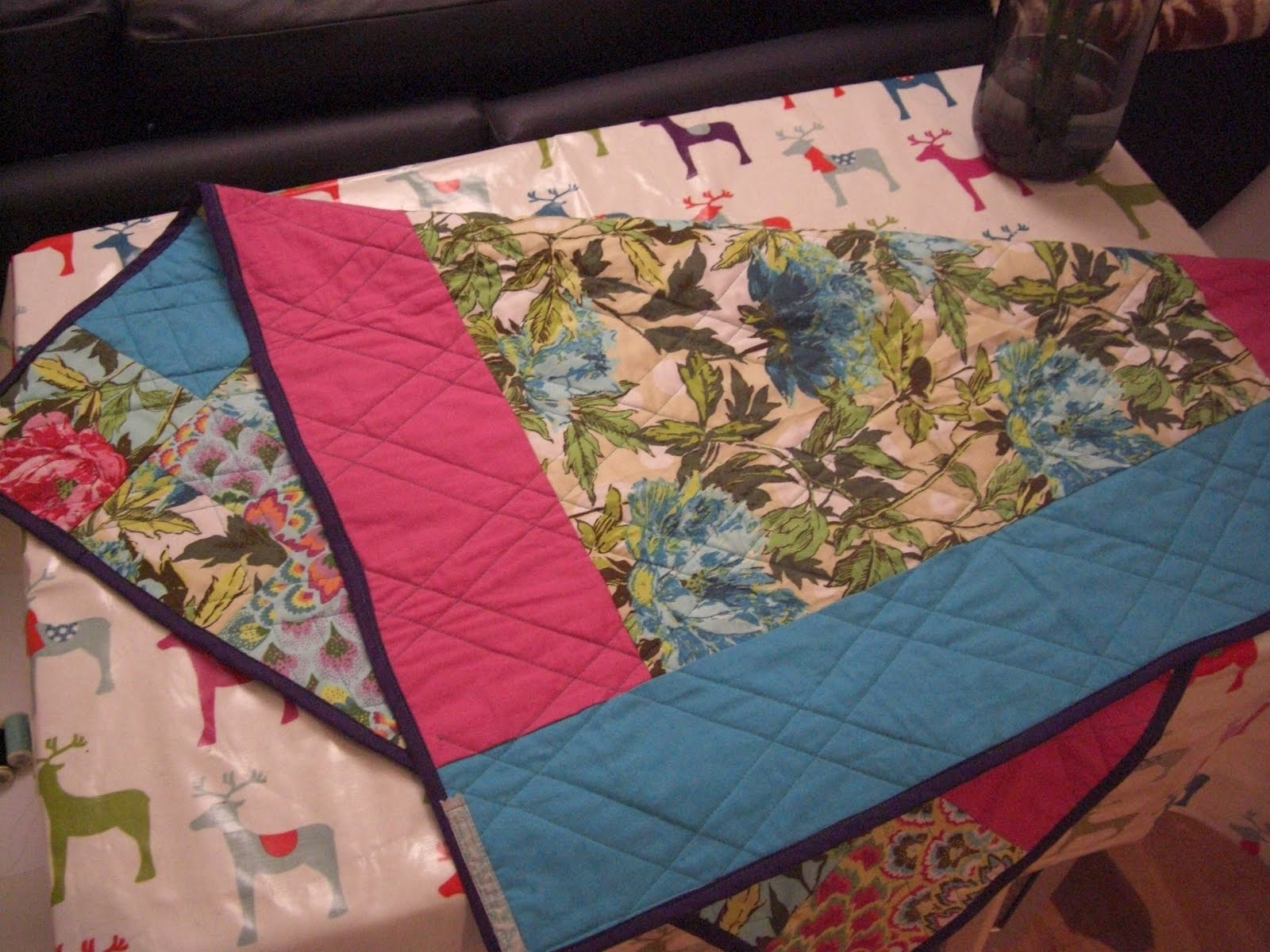 Ripped Up & ReSewn: Christmas Gifts 3 - Quilted Patchwork Blanket