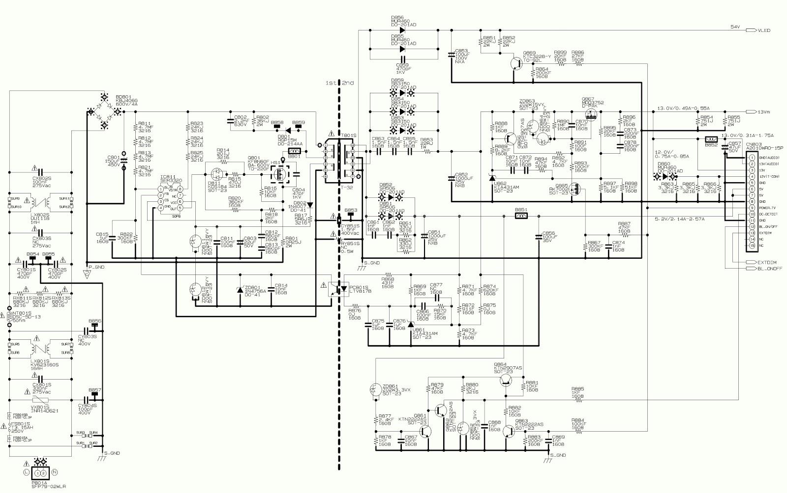 toshiba 39l2300  u2013 toshiba 32l2300  u2013 smps circuit diagram
