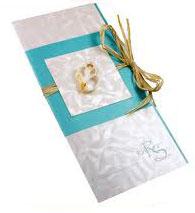 Letterpress invitation Damask