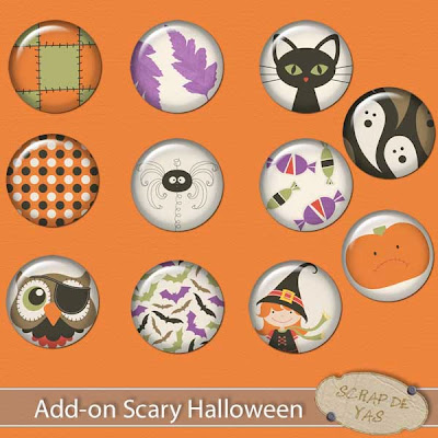 scary halloween y scrap de yas