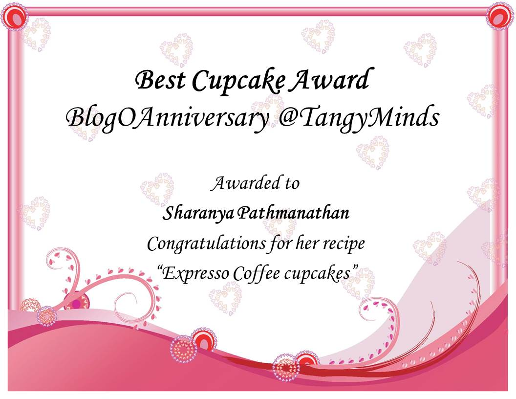 Just not the cakes my first certificate thank you archana it was soo nice participating in your event this is my first award certificate for the round up of the event do visit her blog yadclub Gallery