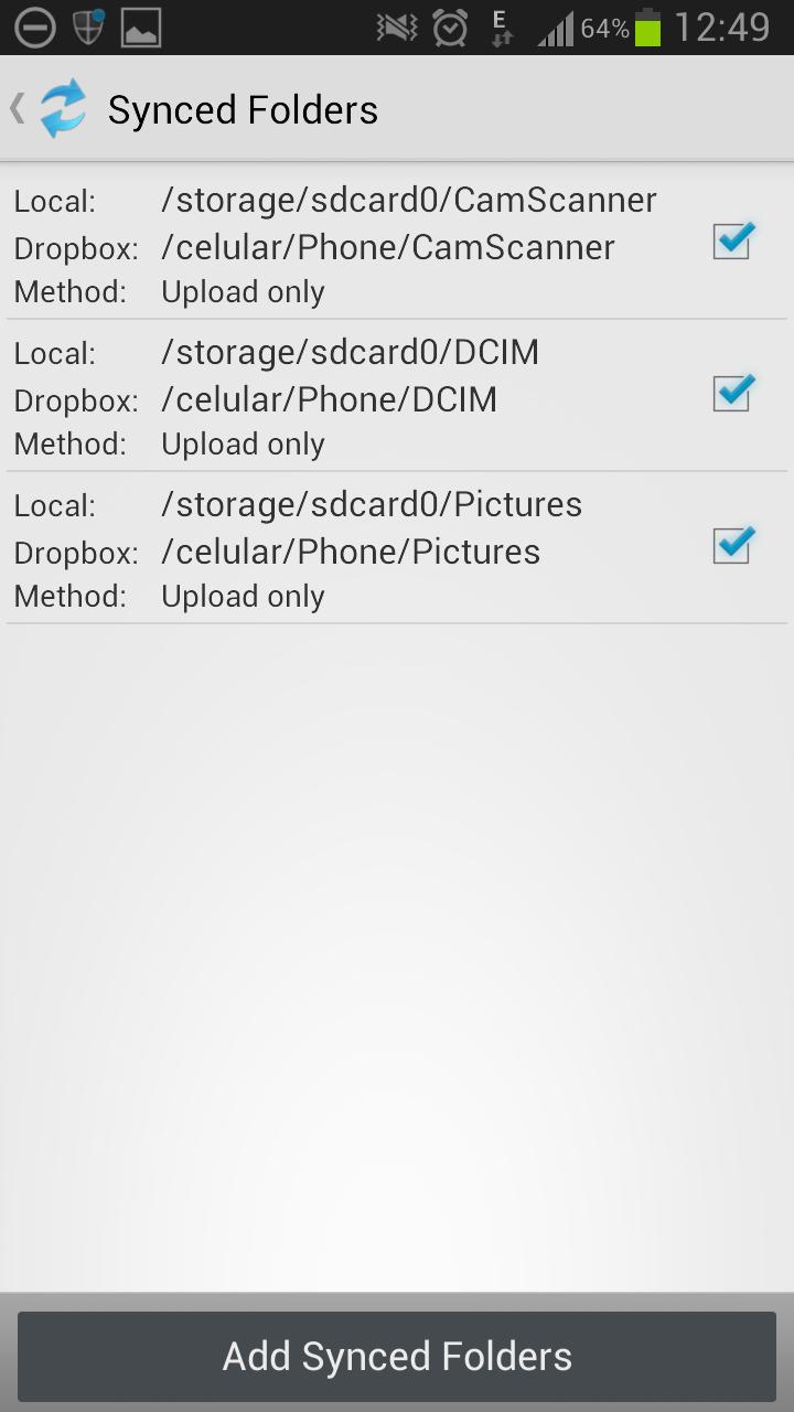 DropSync - Folders