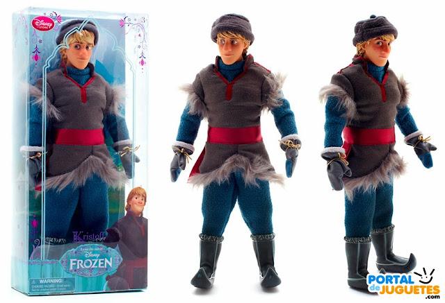 muñeco kristoff de frozen caja y posado