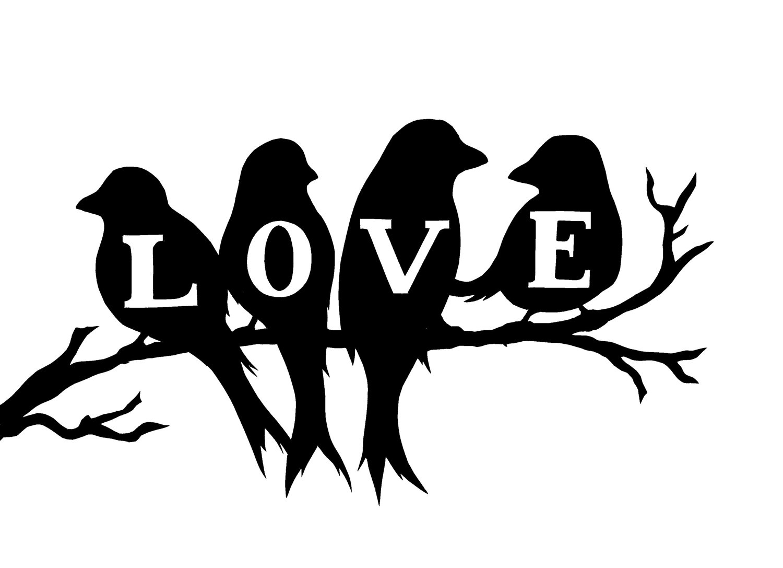 Avoiding Regret  February      Clipart Kid Love Birds On A Love Tree In Coral Pink Digital Clip Art