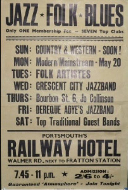 Music at the Railway Hotel, Fratton