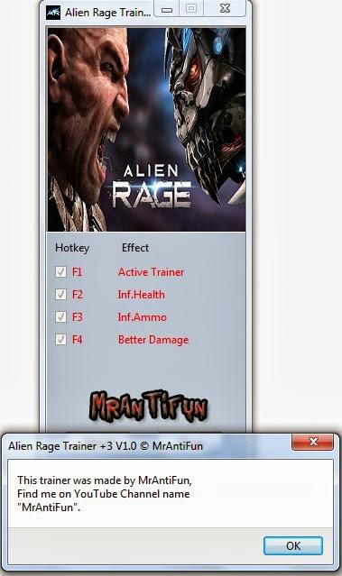 Alien Rage Trainer +3 V1.0  MrAntiFun