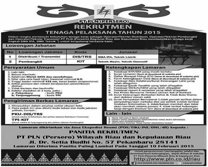 PT PLN (Persero) Wilayah Riau dan Kepri