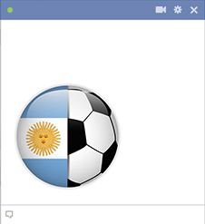 Argentina football emoticon