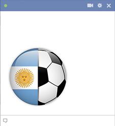 Argentina football flag