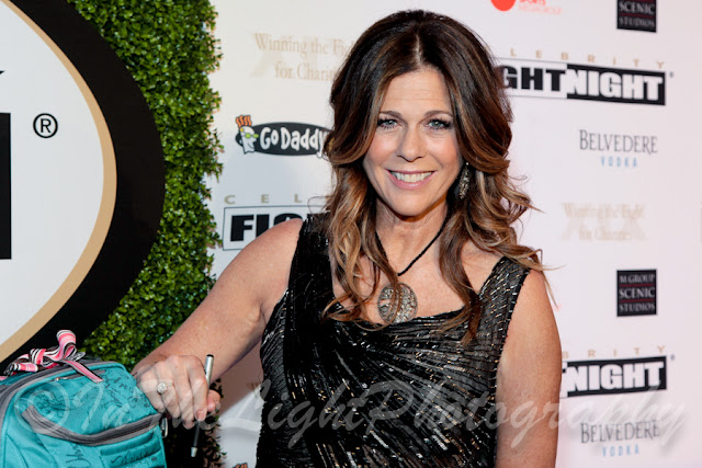 Celebrity Fight Night 2013 Red Carpet Rita Wilson