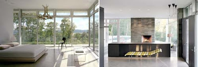 Bedroom Glass House Design