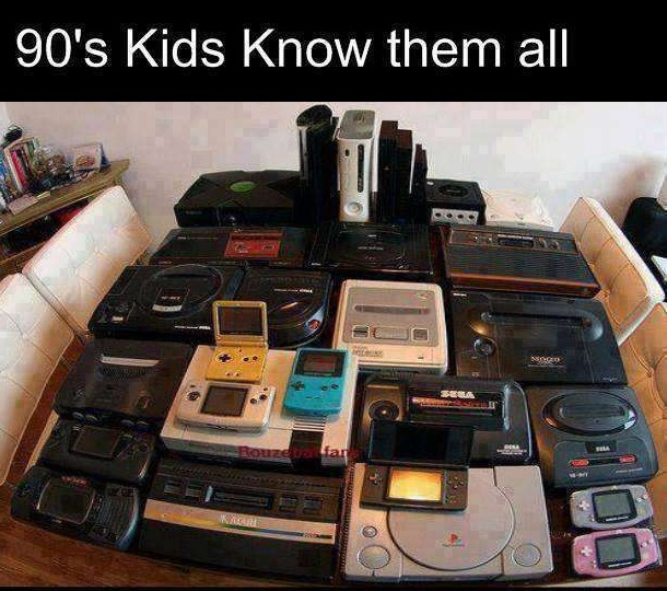 Video game contra 90s kids
