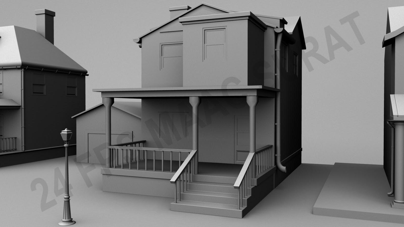 Maac surat 3d exterior models for Exterior 3d model