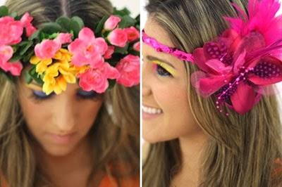 acessórios de cabeça para o Carnaval coroa de flores e headband de lantejoulas