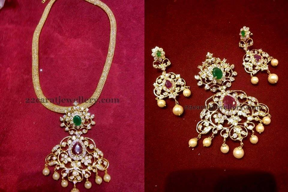 Pendant sets 1500 to 3000 price range jewellery designs pendant sets 1500 to 3000 price range 1 gram gold aloadofball Images