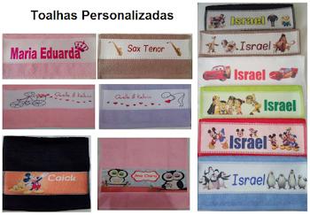Toalhas personalizadas R$ 6,00 a vista transferência ou deposito ou R$ 6,90 no cartão.