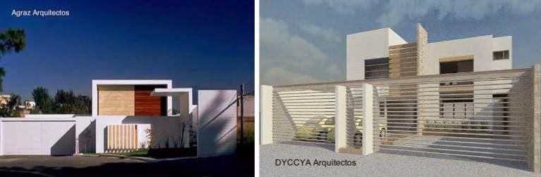 Dos proyectos de modernas casas contemporáneas estilo Minimalista en México