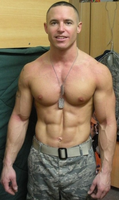 Black naked bodybuilding