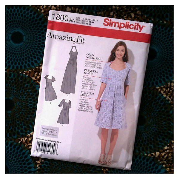 Simplicity 1800 Amazing Fit sewing pattern