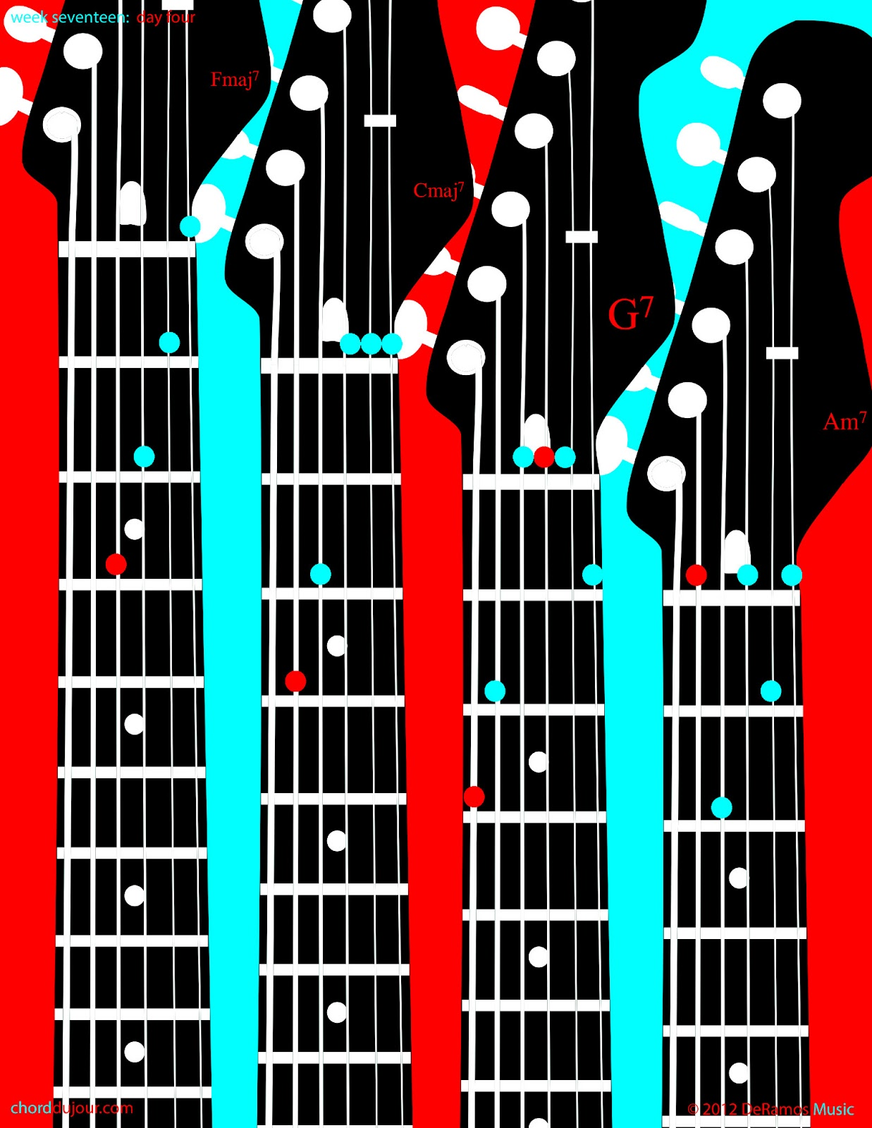 Chord Du Jour Four 7th Chords Four Chords With A Capo At The
