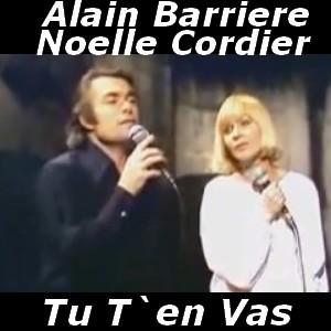 Alain Barriere & Noelle Cordier Tu T'En Vas 1975 lyrics ...