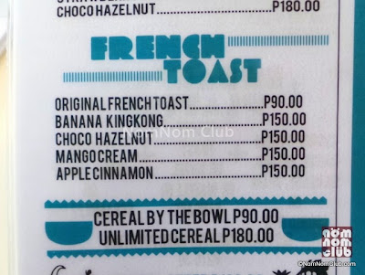 French Toast Menu