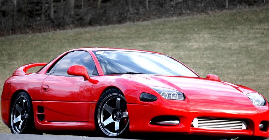 Mitsubishi 3000GT (GTO), japoński sportowy samochód, twin turbo, awd, v6, kultowy, tuning, fotki