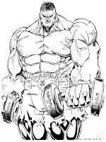 Halaman Mewarnai Gambar Hulk