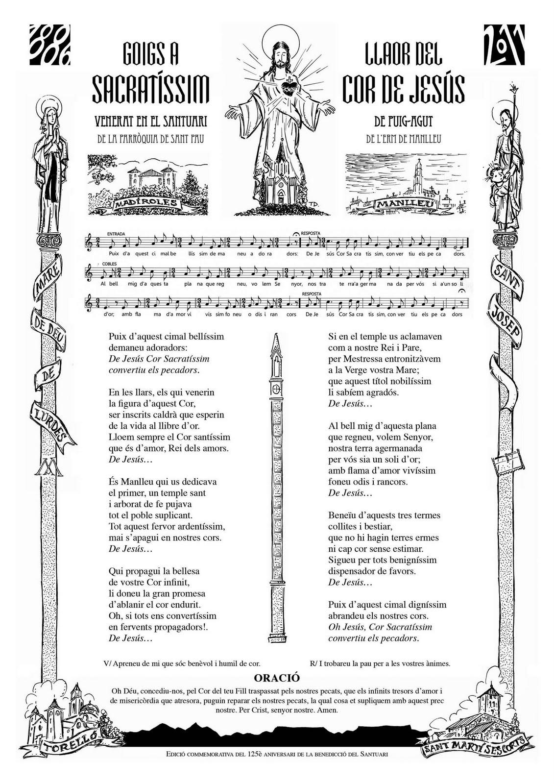 GOIGS A HONOR DEL SACRATÍSSIM COR DE PUIG-AGUT (edició 2011)