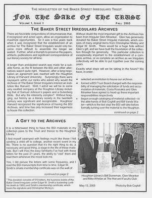 BSI Trust Fall 2005 Newsletter