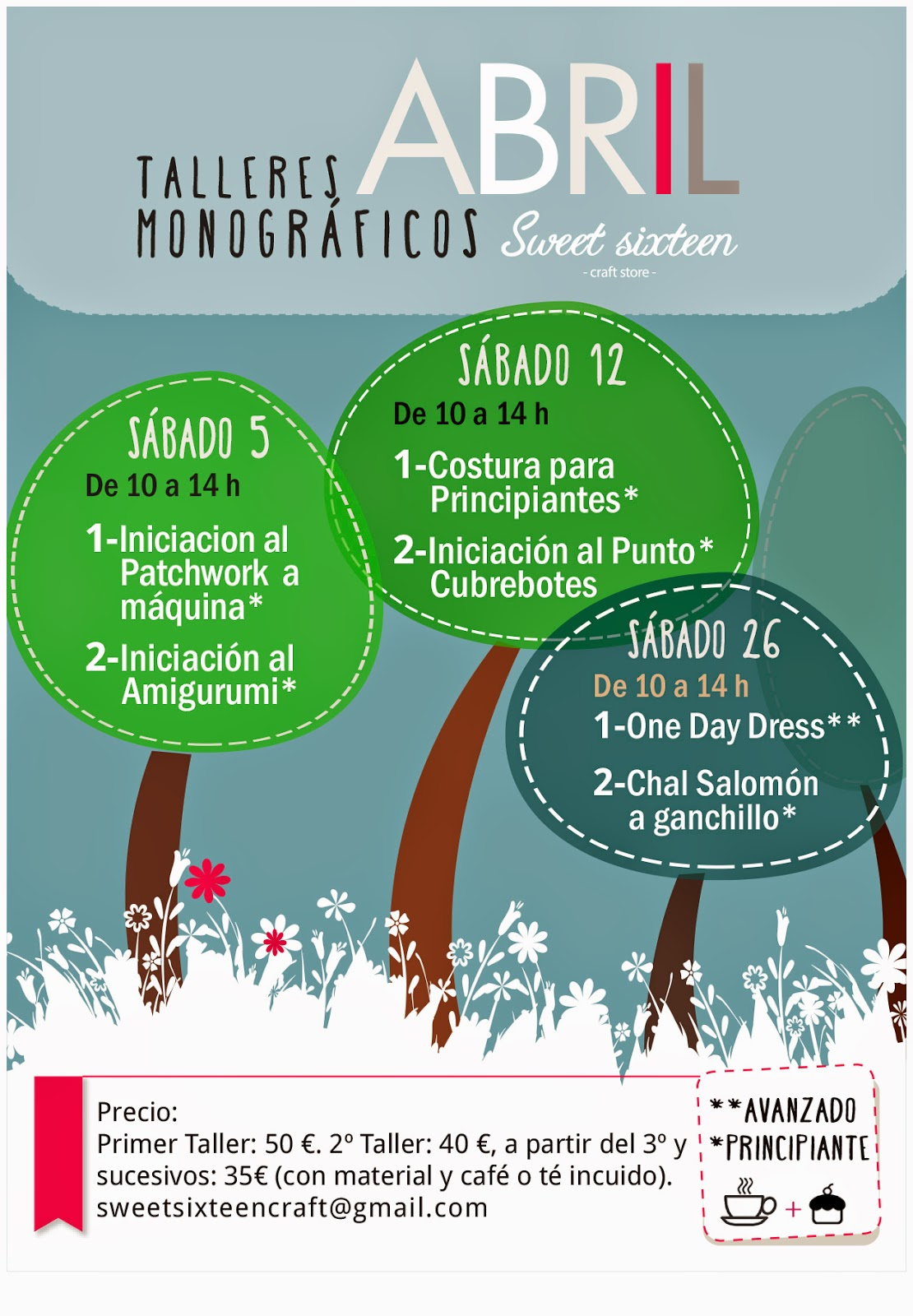 TALLERES MONOGRAFICOS ABRIL SWEET SIXTEEN CRAFT STORE