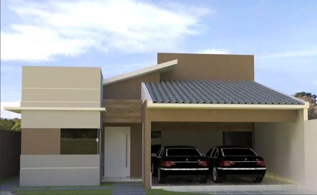 Construindo Minha Casa Clean Fachadas Com Ou Sem Telhado