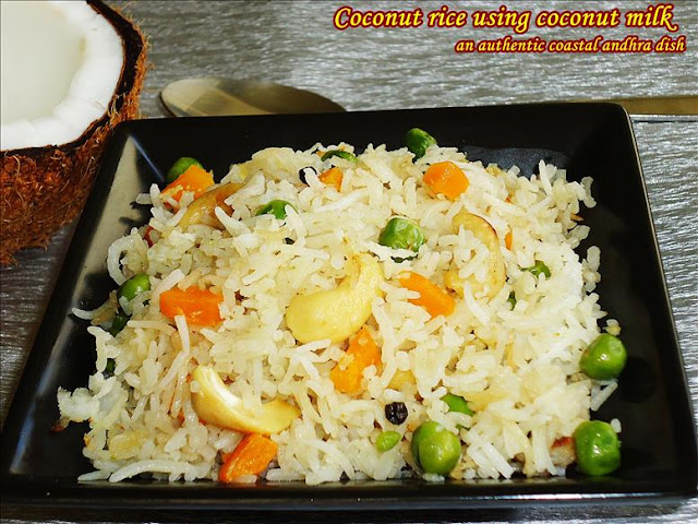 coconut milk rice | indian recipe