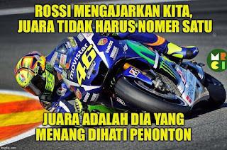 Tak Juara MotoGP 2015, Rossi Juara Dihati Penonton